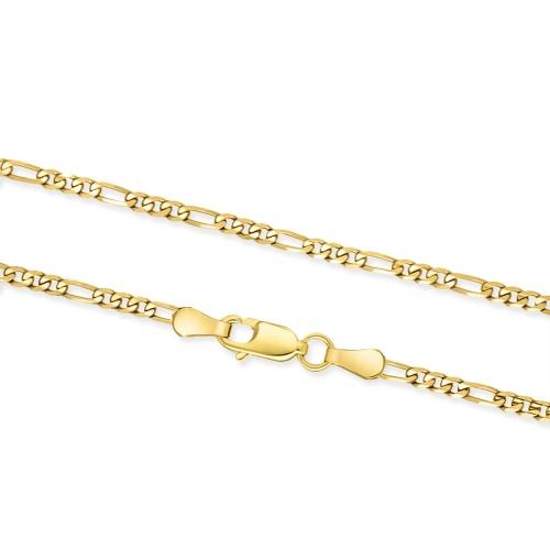 Złoty łańcuszek - Figaro 60cm pr.585