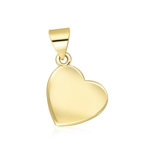 Złota zawieszka - Serce pr.333