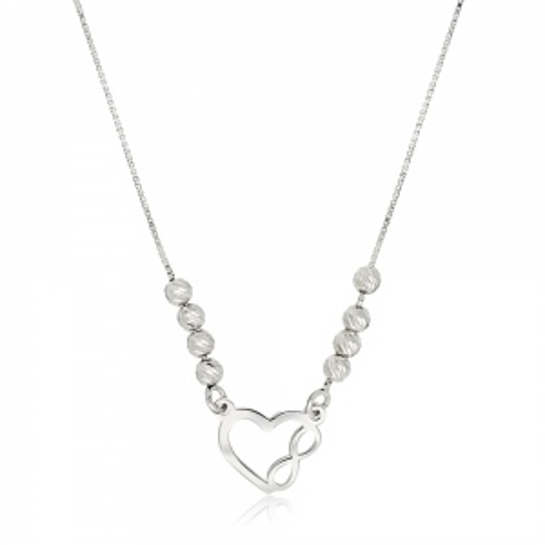 Srebrny naszyjnik celebrytka - Nieskończona Miłość pr.925