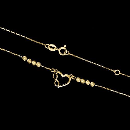 Pozłacany naszyjnik celebrytka - Nieskończona Miłość pr.925