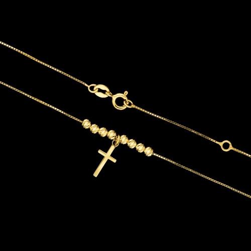 Pozłacany naszyjnik - Krzyżyk pr.925