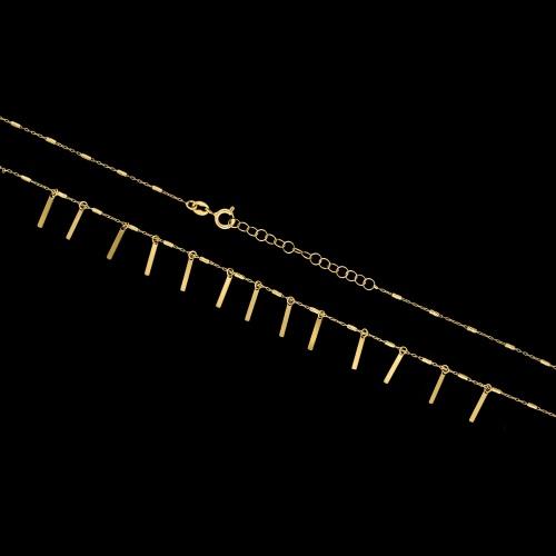 Pozłacany naszyjnik - Pręciki pr.925