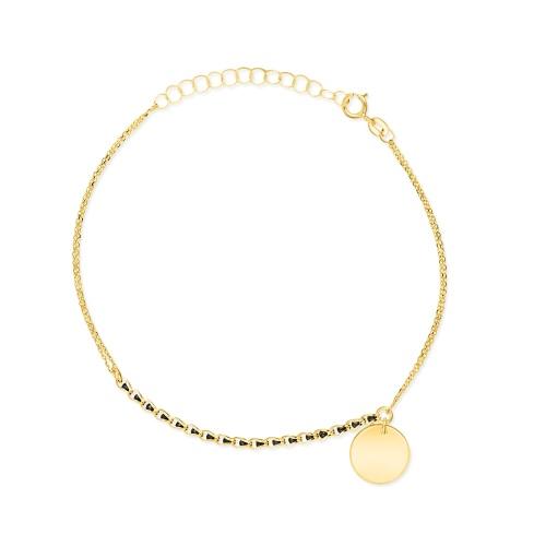 Złota bransoletka celebrytka - Moneta pr.585