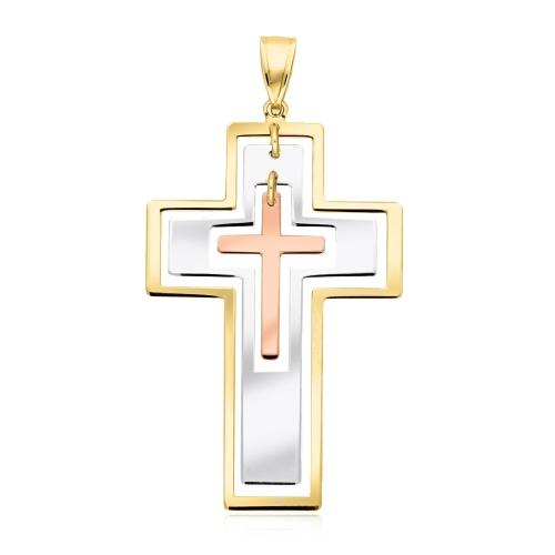 Złota zawieszka - Krzyżyk pr.333
