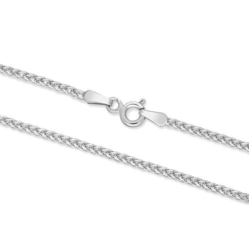 Srebrny łańcuszek - Lisi Ogon 45cm pr.925