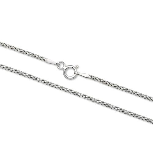 Srebrny łańcuszek - Popcorn 45cm pr.925