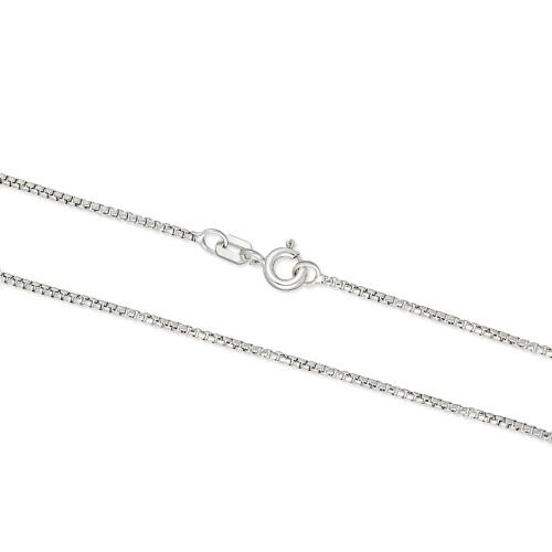 Srebrny łańcuszek - Kostka 45cm pr.925
