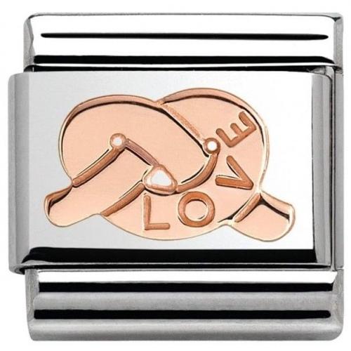 Nomination - Link 9K Rose Gold 'Węzeł miłości' 430104/25