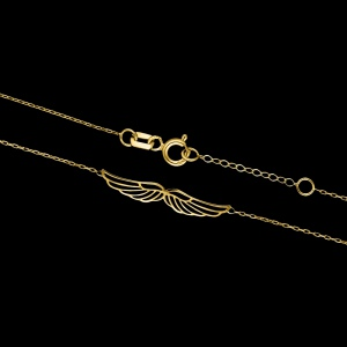 Złoty naszyjnik celebrytka - Skrzydła pr.333