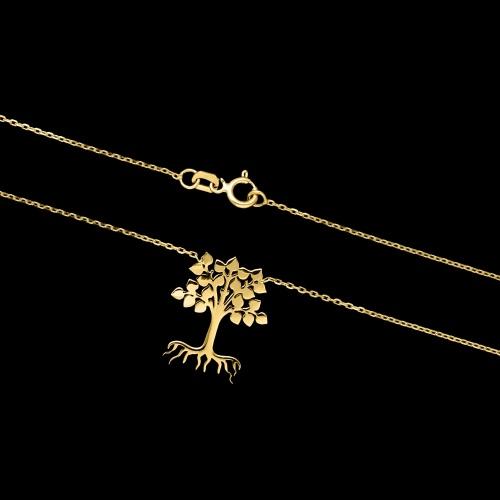 Złoty naszyjnik celebrytka - Drzewo Rodzinne pr.333