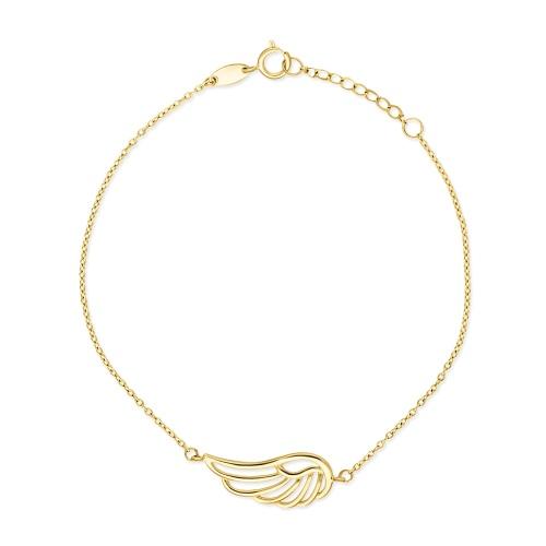 Złota bransoletka - Skrzydło pr.585