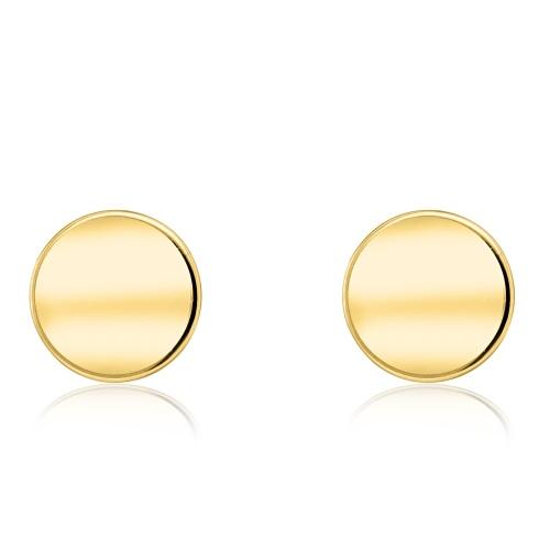 Złote kolczyki - Monety pr.585