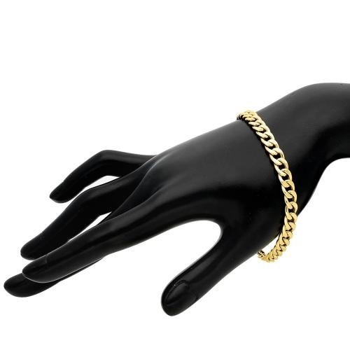 Złota bransoletka - Pancerka 22cm pr.333