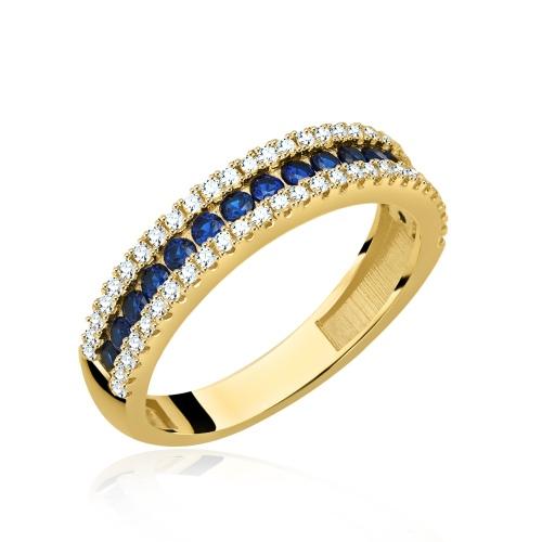 Złoty pierścionek z cyrkoniami pr.333
