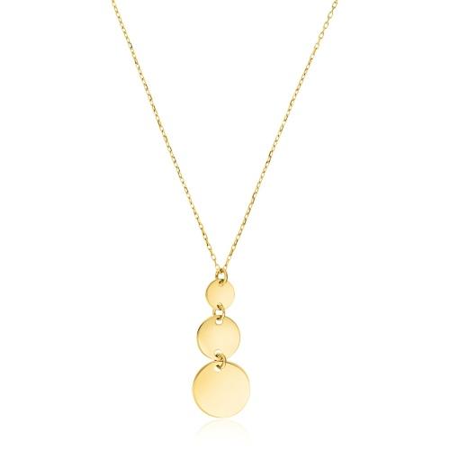 Złoty naszyjnik celebrytka - Wiszące Monety pr.585
