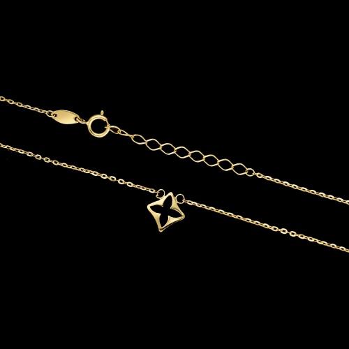 Złoty naszyjnik celebrytka - Lilia pr.585