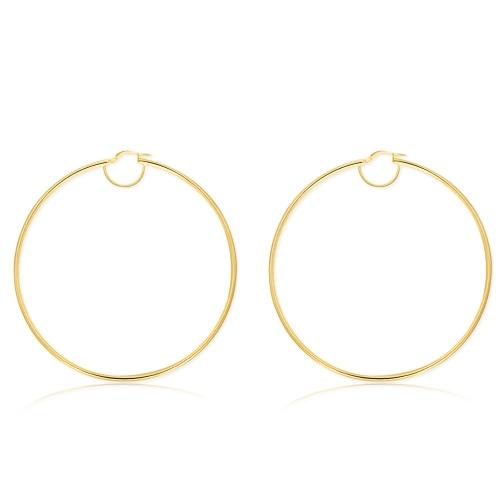 Złote kolczyki - Koła 71mm pr.585