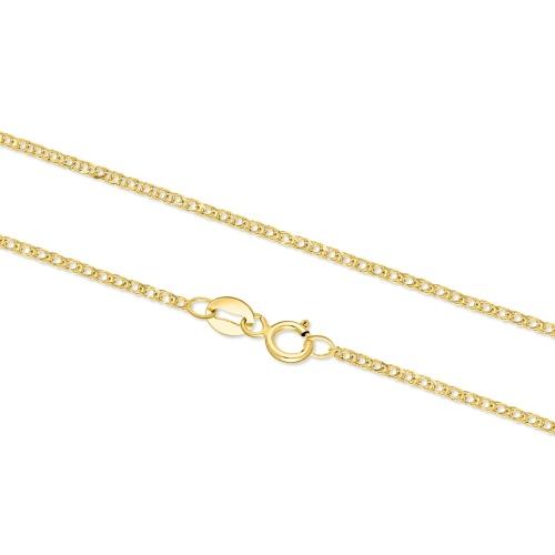 Złoty łańcuszek - Lisi Ogon 42cm pr. 585