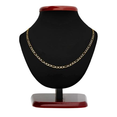Złoty łańcuszek - Zdobiony Figaro 55cm pr.585