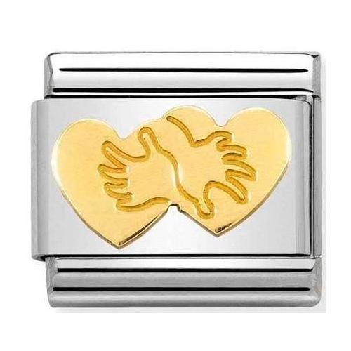 Nomination -  Link 18K Gold 'Heart Hug' 030162/60