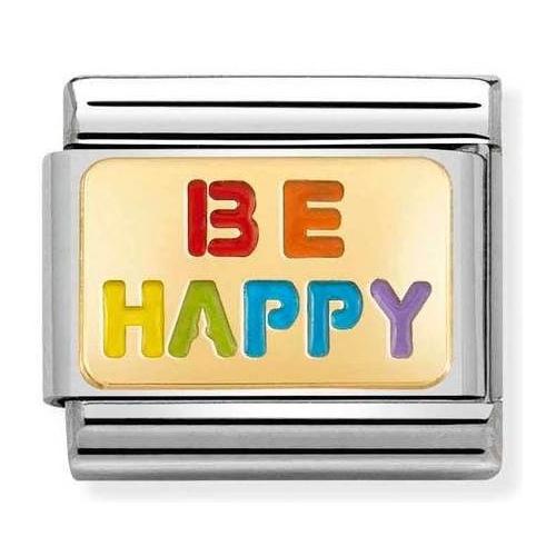 Nomination -  Link 18K Gold 'Be Happy' 030263/18