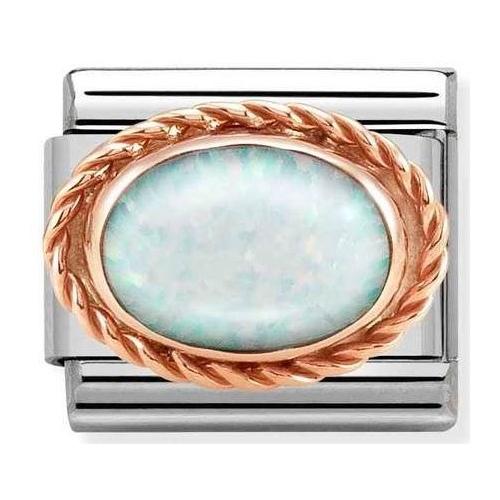 Nomination - Link 9K Rose Gold 'White Opal' 430507/07