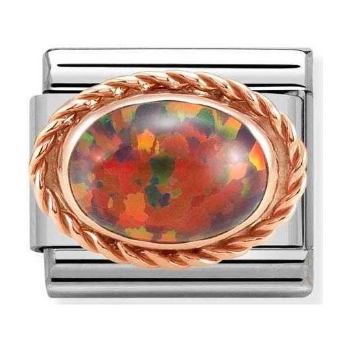 Nomination - Link 9K Rose Gold 'Red Opal' 430507/08