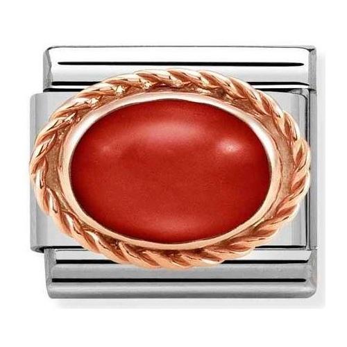 Nomination - Link 9K Rose Gold 'Red Coral' 430507/11