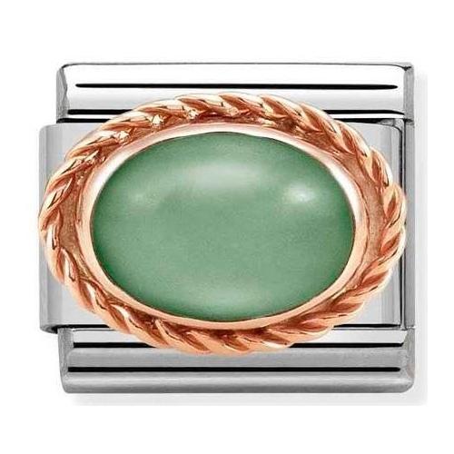 Nomination - Link 9K Rose Gold 'Green Avventurina' 430507/23