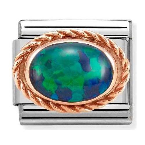 Nomination - Link 9K Rose Gold 'Green Opal' 430507/26