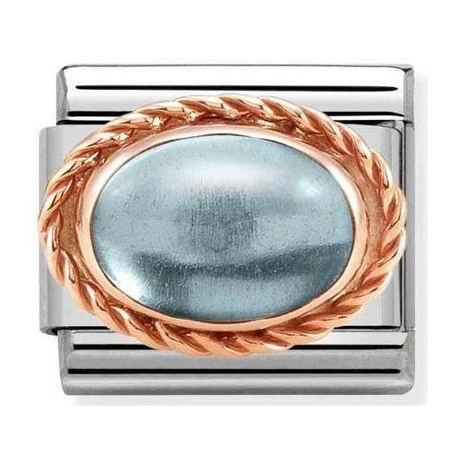 Nomination - Link 9K Rose Gold 'Light Blue Topaz' 430507/30