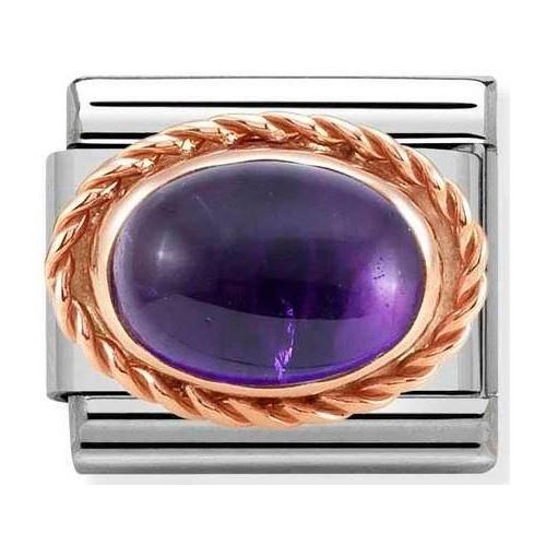 Nomination - Link 9K Rose Gold 'Amethyst' 430507/35