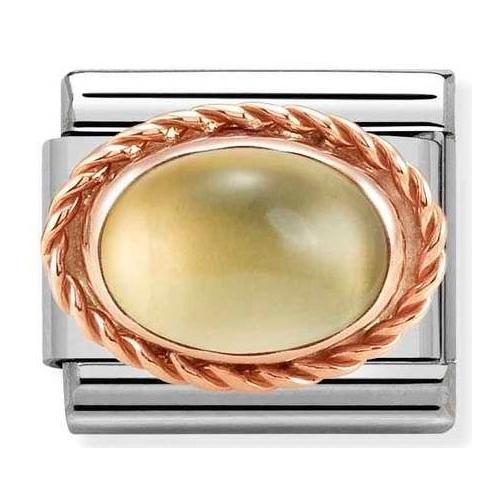 Nomination - Link 9K Rose Gold 'Citrine' 430507/37