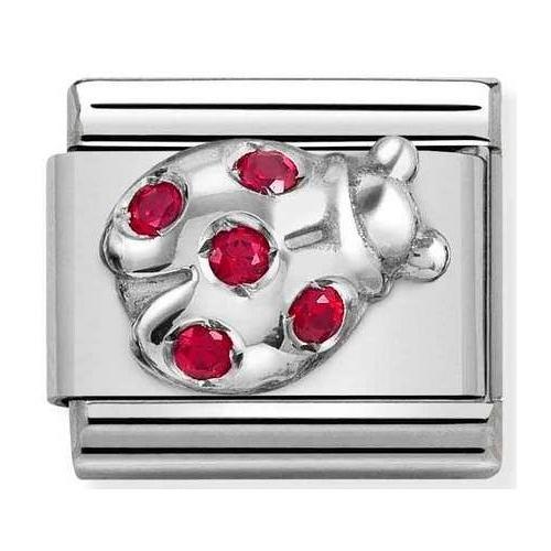 Nomination - Link 925 Silver 'Ladybug' 330304/36