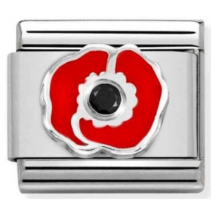 Nomination - Link 925 Silver 'Red Poppy' 330305/17