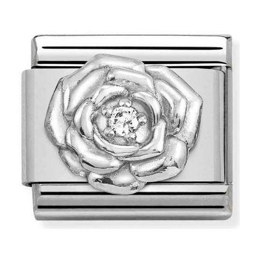 Nomination - Link 925 Silver 'Rose' 330311/12