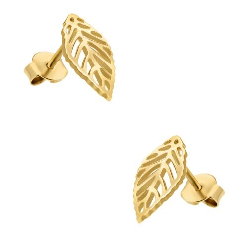 Złote kolczyki - Listki pr.585