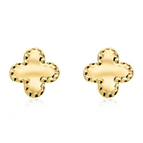 Złote kolczyki - Lilie pr.585