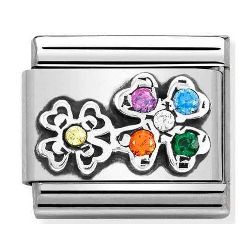 Nomination - Link 925 Silver 'Four- Leaf Clovers' 330323/04