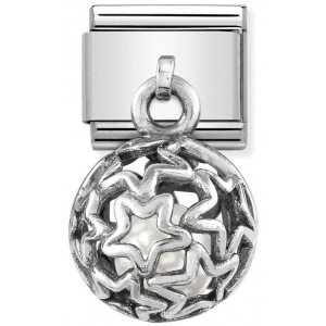 Nomination - Link 925 Silver 'Stars with White Swarovski Pearl' 331810/07
