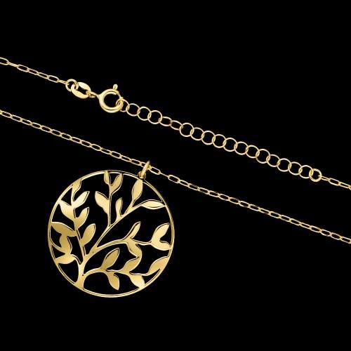 Pozłacany naszyjnik - Drzewo pr.925