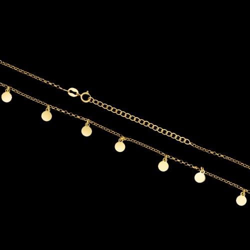 Pozłacany naszyjnik celebrytka - Monety pr.925