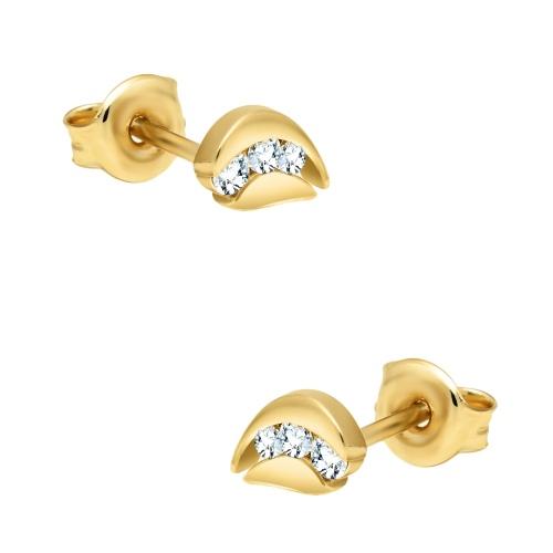 Złote kolczyki z cyrkoniami pr.585