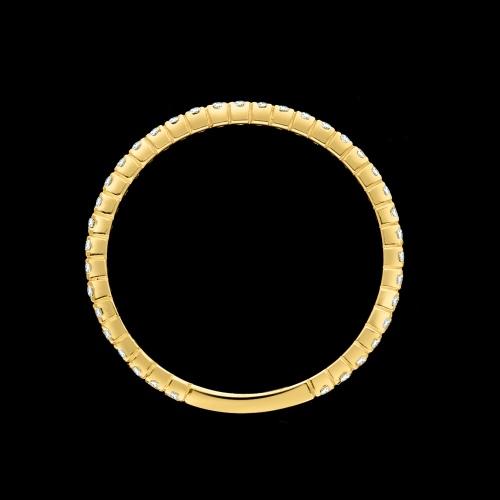 Złoty pierścionek obrączka z cyrkoniami pr.585