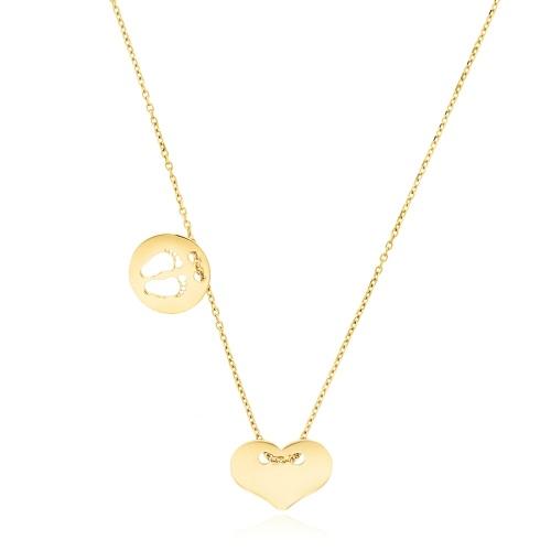 Złoty naszyjnik celebrytka - Matczyna miłość pr.585