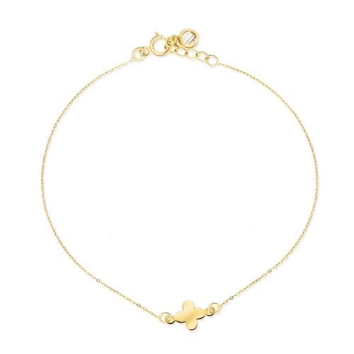 Złota bransoletka celebrytka - Kwiatek pr.585