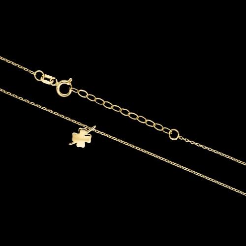 Złoty naszyjnik celebrytka - Koniczynka pr.333