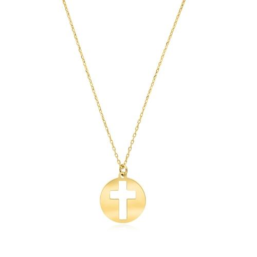 Złoty naszyjnik celebrytka - Krzyżyk pr.333