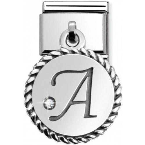 Nomination - Link 925 Silver 'Litera A' 031715/01