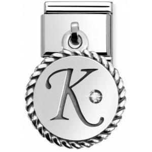 Nomination - Link 925 Silver 'Litera K' 031715/11